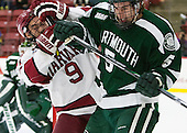 Luke Esposito (Harvard - 9), Tim Shoup (Dartmouth - 5) - The Harvard University Crimson defeated the Dartmouth College Big Green 5-2 to sweep their weekend series on Sunday, November 1, 2015, at Bright-Landry Hockey Center in Boston, Massachusetts. -