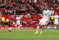 Pictured: Gylfi Sigurdsson of Swansea.  Saturday 16 August 2014<br />