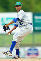 Lexington Legends starting pitcher Miguel Almonte (27) in action against the Kannapolis Intimidators at CMC-Northeast Stadium on July 31, 2013 in Kannapolis, North Carolina.  The Intimidators defeated the Legends 3-2.  (Brian Westerholt/Four Seam Images)