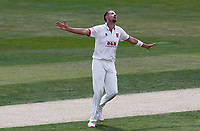 Matt Quinn of Essex celebrates taking the wicket of Ivan Thomas during Essex CCC vs Kent CCC, Bob Willis Trophy Cricket at The Cloudfm County Ground on 2nd August 2020