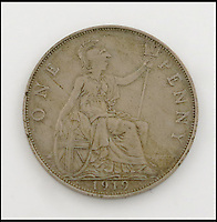 BNPS.co.uk (01202) 558833<br /> Picture: WoolleyAndWallis<br /> <br /> A unique one pence piece accidentally struck in the wrong metal in the aftermath of the First World War is set to sell for 250,000 times its original face value. The sterling penny, made from a blend of copper and nickel instead of bronze, is the only one of its kind in the world, and is now set to sell for &pound;2,500. During a production run of standard pennies, two blanks for British West Africa pennies made it into the batch. When the mistake was realised, one was thrown back into the furnace and this one was kept by the engineer.