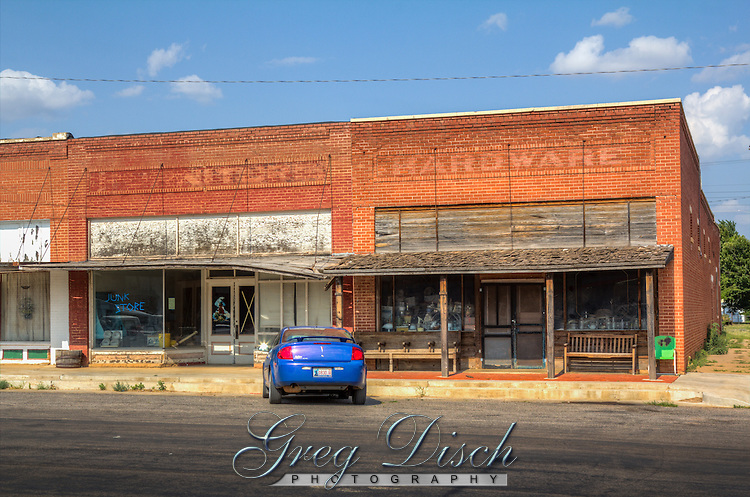 Downtown Erick Oklahoma on Route 66.