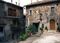Italien, Latium, Soriano nel Cimino bei Viterbo: Altstadt | Italy, Lazio, Soriano nel Cimino near Viterbo: old town