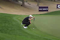 Bernd Wiesberger (AUT) on the 3rd green during Round 1 of the Omega Dubai Desert Classic, Emirates Golf Club, Dubai,  United Arab Emirates. 24/01/2019<br /> Picture: Golffile | Thos Caffrey<br /> <br /> <br /> All photo usage must carry mandatory copyright credit (&copy; Golffile | Thos Caffrey)