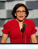 Mayor Karen Weaver (Democrat of Flint, Michigan) makes remarks during the third session of the 2016 Democratic National Convention at the Wells Fargo Center in Philadelphia, Pennsylvania on Wednesday, July 27, 2016.<br /> Credit: Ron Sachs / CNP<br /> (RESTRICTION: NO New York or New Jersey Newspapers or newspapers within a 75 mile radius of New York City)