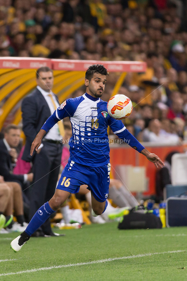 FAISAL ZAYED ALHARBI of Kuwait controls the ball in match 1 of the 2015 AFC Asian Cup at the Melbourne Rectangular Stadium on 9 January 2015. Australia def Kuwait 4-1