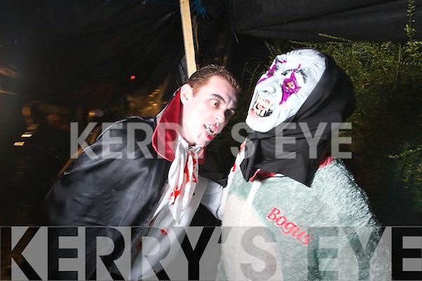 Diarmuid McAulliffe and Anthony McAilliffe from Knocknagoshel pictured at the Knocknagoshel Halloween event on Sunday evening.