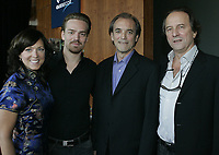 Montreal (Qc) CANADA - August Sept 3 file Photo - Movie about the Air transat pilot  Robert Piche who managed to land an Airbus A-330  plane safely after running out of fuel on August 21 2001. : Robert Piche, Michel Cote, actor