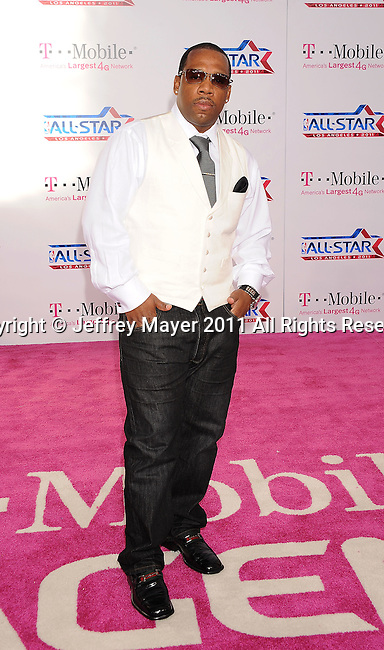 LOS ANGELES, CA - FEBRUARY 20: Michael Bivins arrives at the T-Mobile Magenta Carpet at the 2011 NBA All-Star Game at L.A. Live on February 20, 2011 in Los Angeles, California.