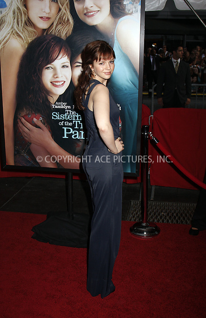 """WWW.ACEPIXS.COM . . . . .  ....July 28 2008, New York City....Actress Amber Tamblyn arriving at the premiere of """"The Sisterhood of the Travelling Pants 2"""" at the Zeigfeld Theatre on July 28 2008 in New York City....Please byline: AJ Sokalner - ACEPIXS.COM..... *** ***..Ace Pictures, Inc:  ..te: (646) 769 0430..e-mail: info@acepixs.com..web: http://www.acepixs.com"""