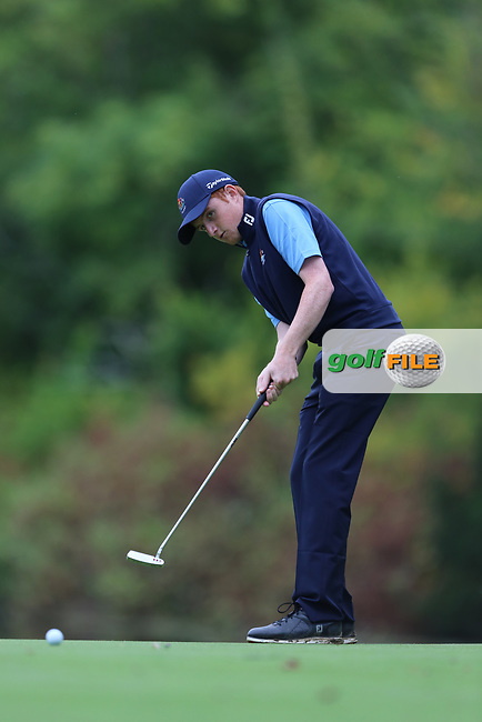 Ronan Mullarney (Galway) during the AIG Senior Cup Final at the 2017 AIG Cups and Shields at Carton House. 23/09/2017.<br /> <br /> Picture: Golffile | Jenny Matthews<br /> <br /> <br /> All photo usage must carry mandatory copyright credit (&copy; Golffile | Jenny Matthews)