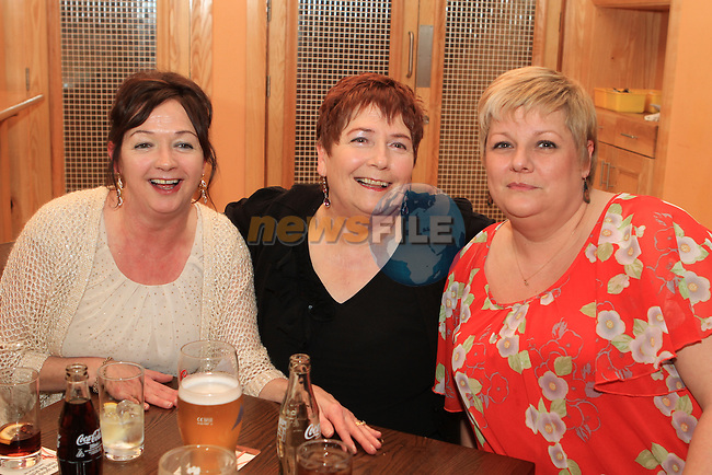 Cynthia Sharkey, Anne McKeown and Catriona Byrne at Bernadette McKeown's 60th in the Thatch...(Photo credit should read Jenny Matthews www.newsfile.ie)....