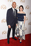 HOLLYWOOD, CA - JANUARY 28: Actor Keegan-Michael Key (L) and producer Elisa Pugliese arrive at the 28th Annual Producers Guild Awards at The Beverly Hilton Hotel on January 28, 2017 in Beverly Hills, California.