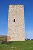Bergfried (22 m, 13. Jh.) der Burg Schwabsburg in Nierstein-Schwabsburg mit Hocheingang in ca. 10 m Höhe