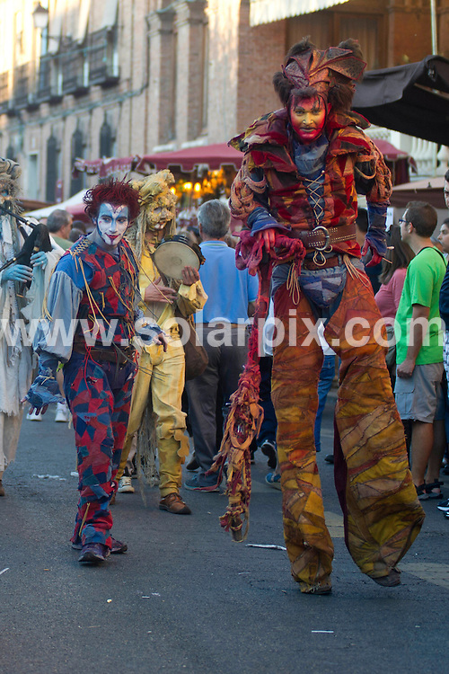 **ALL ROUND PICTURES FROM SOLARPIX.COM**                                             **WORLDWIDE SYNDICATION RIGHTS EXCEPT SPAIN - NO SYNDICATION IN SPAIN**                                                                                  Caption: The Quijote Fair Middle ages fair held in Alcala De Henares in Madrid.Over 100 stalls & Medieval performances over 6 days in Madrid's capital.                                                                              This pic:  Quijote Fair Atmosphere                                                                                            JOB REF:14066        DMS/Delores       DATE: 12.10.2012                                                           **MUST CREDIT SOLARPIX.COM OR DOUBLE FEE WILL BE CHARGED**                                                                      **MUST AGREE FEE BEFORE ONLINE USAGE**                               **CALL US ON: +34 952 811 768 or LOW RATE FROM UK 0844 617 7637**
