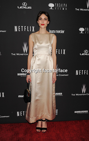 BEVERLY HILLS, CA- JANUARY 12: Actress Alexa Chung attends The Weinstein Company &amp; Netflix 2014 Golden Globes After Party held at The Beverly Hilton Hotel on January 12, 2014 in Beverly Hills, California.<br /> Credit: Mayer/face to face<br /> - No Rights for USA, Canada and France -