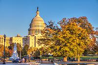 United States Capitol Building Autumn in Washington DC