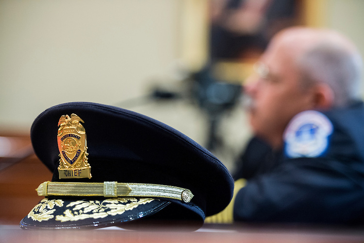 UNITED STATES - MAY 20: U.S. Capitol Police Chief Kim Dine testifies during the House Administration Committee hearing on the U.S. Capitol Police on Wednesday, May 20, 2015. (Photo By Bill Clark/CQ Roll Call)