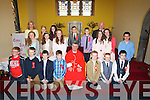 CONFIRMED: Pupils from St Brendan's NS Fenit, who were confirmed on Wednesday in THe Church of the Purification, Churchill, by Fr Sean Hanifin on behalf of the Bishop of Kerry Bill Murphy. the pupils: Paul CassidyJack Dolan, Katie Doyle, Ciara Finn, Clodagh Gaynor, James Lynch, Denis Moriarty, Jason Mortimer, Diana Nagle, Daire O'Connor, Michael O'Donnell, Jason O'Sullivan, Iona O'Neill, Killian O'Sullivan, Orlaigh O'Sullivan,Hannah Stack and Lia Chute.Teachers Paul O'Connell and Aisling O'Sullivan (principal)