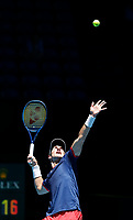 5th January 2020; RAC Arena, Perth, Western Australia; ATP Cup Australia, Perth, Day 3; Italy versus Norway; Casper Ruud of Norway serves during his match against Fabio Fognini of Italy - Editorial Use