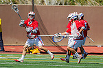 La Canada, CA 03/15/14 - Nicholas Stinn (St. Ignatius #9) in action during the St Ignatius vs Coronado boys lacrosse game at St Francis High School in Pasadena.  St Ignatius defeated Coronado 19-8.