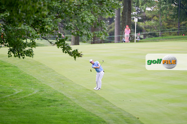 Bernd Wiesberger (AUT) hits his approach shot on 8 during Sunday's final round of the World Golf Championships - Bridgestone Invitational, at the Firestone Country Club, Akron, Ohio. 8/6/2017.<br /> Picture: Golffile | Ken Murray<br /> <br /> <br /> All photo usage must carry mandatory copyright credit (&copy; Golffile | Ken Murray)
