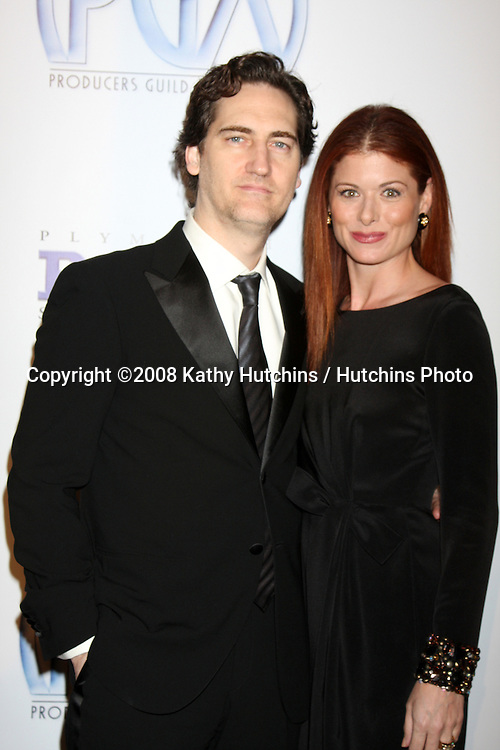 Daniel Zelman & Debra Messing  arriving at the Producer's Guild Awards, at the Palladium in Los Angeles, CA on .January 24, 2009.©2008 Kathy Hutchins / Hutchins Photo..