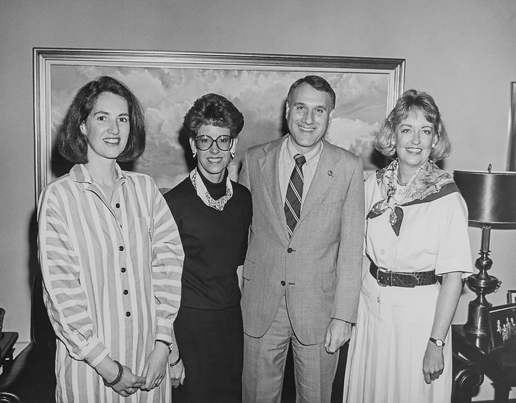 Rep. Jon Kyl, R-Ariz., with staff members. 1995 (Photo by CQ Roll Call via Getty Images)