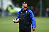 Bath Rugby first team coach Toby Booth looks on during the pre-match warm-up. Pre-season friendly match, between Edinburgh Rugby and Bath Rugby on August 17, 2018 at Meggetland Sports Complex in Edinburgh, Scotland. Photo by: Patrick Khachfe / Onside Images