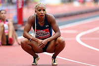 Natasha Hastings of USA after competing in the womenís 400 metres during the Muller Anniversary Games at The London Stadium on 9th July 2017