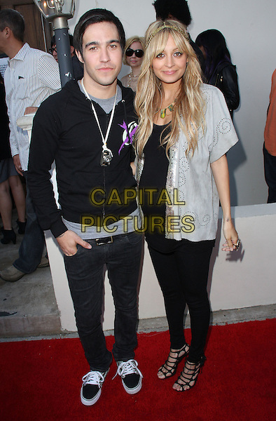 PETE WENTZ (FALL OUT BOY) & NICOLE RICHIE.House of Harlow 1960 & Clandenstine Industries Switch Boutique Runway Show held at Boulevard 3, Hollywood, California, USA. .June 4th, 2009 .full length black leggings top jacket silver grey gray pregnant strappy sandal.CAP/ADM/KB.©Kevan Brooks/AdMedia/Capital Pictures.