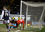 Andy Halliday steers the ball into the net to open the scoring for Rangers