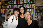 "Another World's Alicia Coppola ""Lorna"" poses with A/W ""mom"" Linda Dano ""Felicia"" and real life mom Linda - Alicia Coppola speaks and signs her book ""Gracefully Gone"" - a fusion of two journals: her father Matthew L. Coppola Sr. and hers - on August 23, 2013 at Book Revue, Huntington, New York. (Photo by Sue Coflin/Max Photos)"