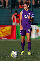 Rochester, NY - Saturday June 11, 2016: Orlando Pride defender Stephanie Catley (7) during a regular season National Women's Soccer League (NWSL) match between the Western New York Flash and the Orlando Pride at Rochester Rhinos Stadium.
