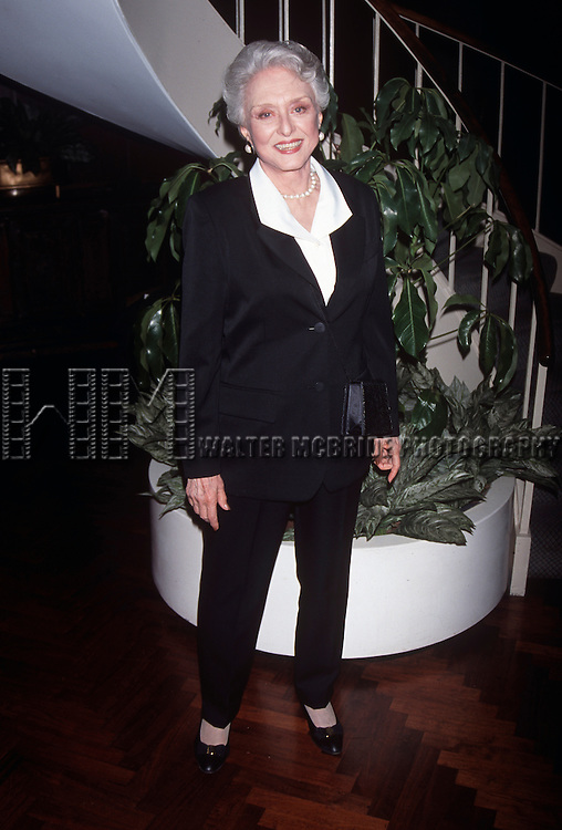 Celeste Holm at the Manhattan Club Spring Gala at the New York Hilton in New York City in May 11th, 1998.