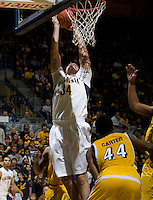 Robert Thurman of California tries to dunk the ball during the game against CSUB at Haas Pavilion in Berkeley, California on November 11th, 2012.  California defeated CSUB, 78-65.