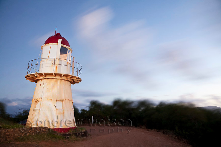 Cooktown Lighthouse at Grassy Hill Lookout.  Cooktown, Queensland, Australia