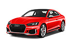 2018 Audi RS5 Base 2 Door Coupe angular front stock photos of front three quarter view