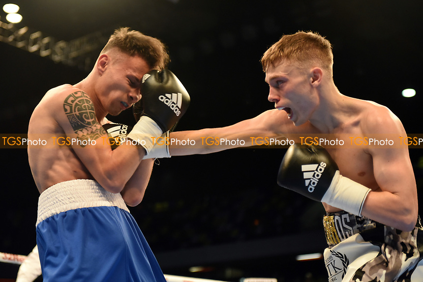 Sunny Edwards defeats Gyula Dodu during a Boxing Show at the Copper Box Arena on 20th May 2017