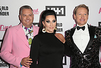 "13 May 2019 - Los Angeles, California - Ross Mathews, Michelle Visage, Carson Kressley. ""RuPaul's Drag Race"" Season 11 Finale Taping held at The Orpheum Theatre. Photo Credit: Faye Sadou/AdMedia"