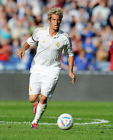 FUSSBALL   INTERNATIONAL   SAISON 2011/2012   TESTSPIEL Herha BSC Berlin - Real Madrid         27.07.2011      Fabio COENTRAO (Real Madrid) Einzelaktion am Ball