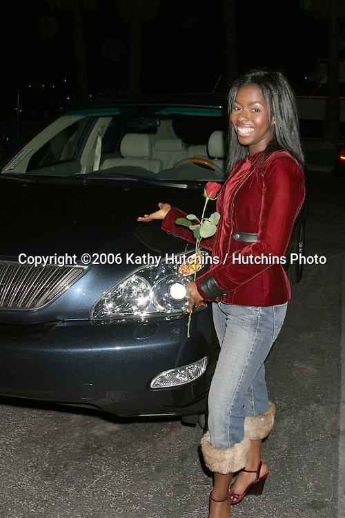 Camille Winbush with the Car, Lexus, birthday present.Camille Winbush's Sweet 16th Birthday Party.Marina Del Rey, CA.February 11, 2006.©2006 Kathy Hutchins / Hutchins Photo....