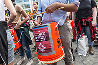 New York, NY 1 May 2017 - Drummers from the Audre Lorde Project arrive  at a May Day / International Workers Day rally in Union Square Park. ©Stacy Walsh Rosenstock/Alamy