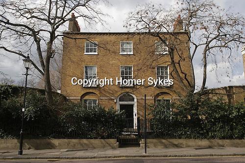 "Cannonbury Square London N1. Typical Georgian terrace houses. UK 2008.""northampton House"" Estorick collection"""