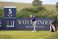 Justin harding (RSA) on the 5th tee during Round 2 of the Alfred Dunhill Links Championship 2019 at Kingbarns Golf CLub, Fife, Scotland. 27/09/2019.<br /> Picture Thos Caffrey / Golffile.ie<br /> <br /> All photo usage must carry mandatory copyright credit (© Golffile | Thos Caffrey)