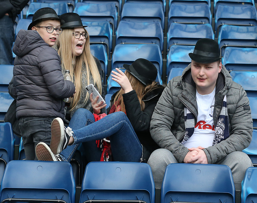 Preston North End fans enjoy their annual Gentry Day <br /> <br /> Photographer Stephen White/CameraSport<br /> <br /> The EFL Sky Bet Championship - West Bromwich Albion v Preston North End - Saturday 13th April 2019 - The Hawthorns - West Bromwich<br /> <br /> World Copyright © 2019 CameraSport. All rights reserved. 43 Linden Ave. Countesthorpe. Leicester. England. LE8 5PG - Tel: +44 (0) 116 277 4147 - admin@camerasport.com - www.camerasport.com