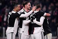 Rodrigo Bentancur of Juventus celebrates with team mates after scoring the goal of 2-0 <br /> Torino 22/01/2020 Juventus Stadium <br /> Football Italy Cup 2019/2020 <br /> Juventus FC - AS Roma <br /> Photo Federico Tardito / Insidefoto