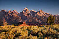"Teton Morning. As the snow piles up outside my window in mountains of Utah, I am enjoying revisiting some images from last August when my son and I slept under the stars on the edge of Teton National Park so we could photograph ""The Barn"" at first light. While we hoped for a a little cloud cover to light up the morning sky, a clear Teton morning is still something to behold. August 2013."