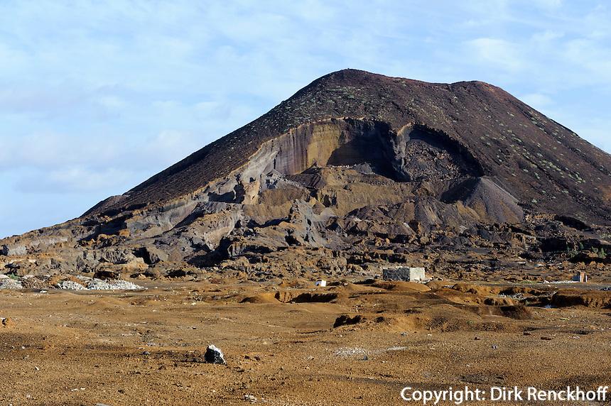 Steinbruch bei Calhau, Sao Vicente, Kapverden, Afrika