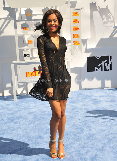 WWW.ACEPIXS.COM<br /> <br /> April 12 2015, LA<br /> <br /> Zuri Hall arriving at the 2015 MTV Movie Awards at the Nokia Theatre L.A. Live on April 12, 2015 in Los Angeles, California.<br /> <br /> By Line: Peter West/ACE Pictures<br /> <br /> <br /> ACE Pictures, Inc.<br /> tel: 646 769 0430<br /> Email: info@acepixs.com<br /> www.acepixs.com